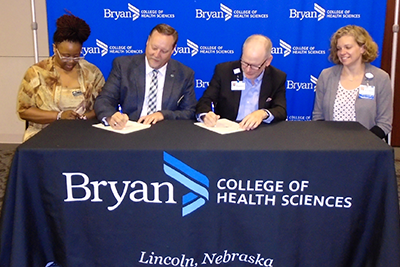 Bryan college of health sciences and Central City sign agreement