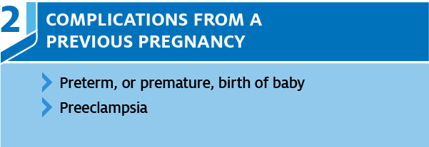 previous pregnancy complications