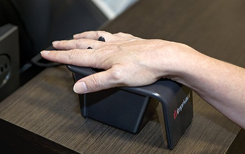 palm scanning for patient identification