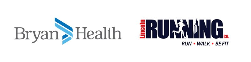 bryan health and lincoln running company logos
